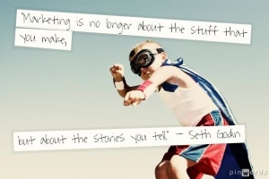 Optional - Marketing storytelling quote